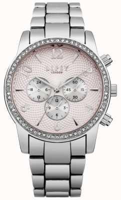 Lipsy Dames roze wijzerplaat zilveren armband horloge LP562