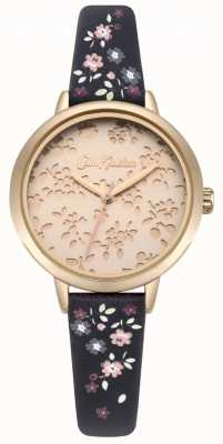 Cath Kidston Womens laser cut highgate ditsy navy band horloge CKL055URG