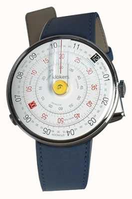 Klokers Klok 01 gele horlogeband indigo blauwe enkele riem KLOK-01-D1+KLINK-01-MC3