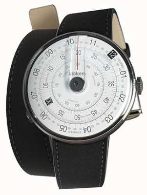 Klokers Klok 01 zwart horloge hoofdmat zwart 380mm dubbele band KLOK-01-D2+KLINK-02-380C2