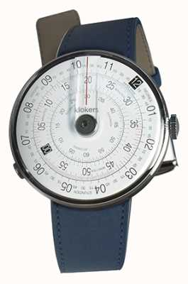 Klokers Klok 01 zwarte horlogeband indigo blauwe dubbele riem KLOK-01-D2+KLINK-02-380C3