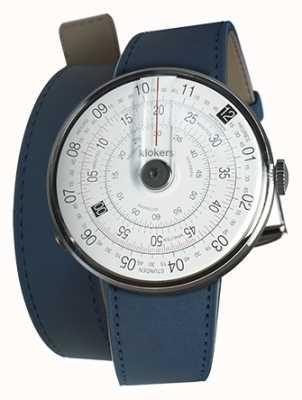 Klokers Klok 01 zwart horloge hoofd indigo blauw 420mm dubbele band KLOK-01-D2+KLINK-02-420C3