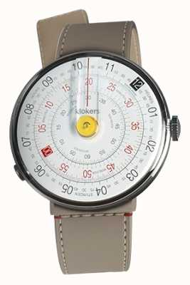 Klokers Klok 01 geel horloge hoofd grege zeestraat enkele riem KLOK-01-D1+KLINK-04-LC9
