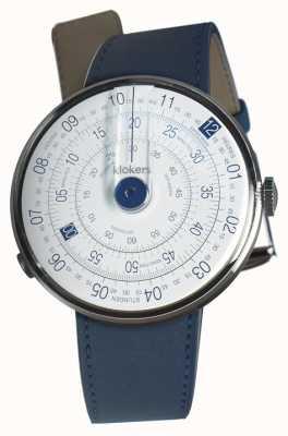 Klokers Klok 01 blauwe horlogeband indigo blauwe enkele riem KLOK-01-D4.1+KLINK-01-MC3