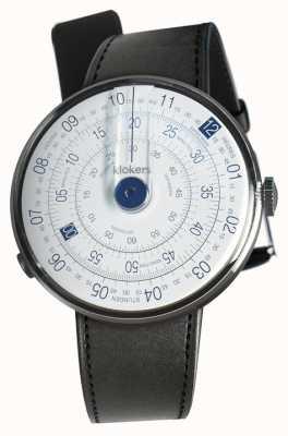 Klokers Klok 01 blauwe horlogekast zwart satijn enkelbandje KLOK-01-D4.1+KLINK-01-MC1