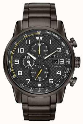 Citizen Heren sport chronograaf grijs ip vergulde armband CA0687-58E