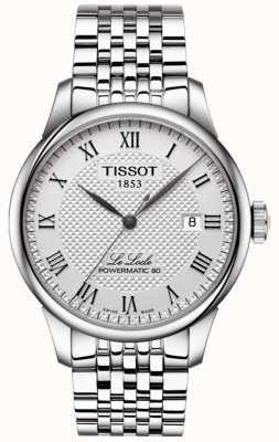 Tissot Mens le locle powermatic 80 automatisch roestvrijstalen horloge T0064071103300