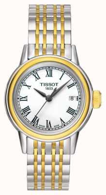 Tissot Carson womens quartz two tone swiss date gemaakt T0852102201100