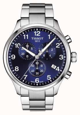 Tissot Heren chrono xl klassiek blauwe wijzerplaat roestvrij stalen armband T1166171104701