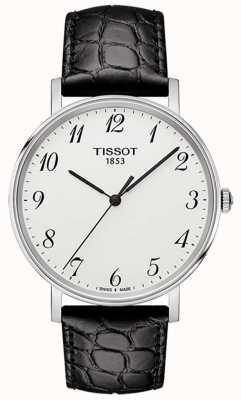 Tissot Heren altijd medium zwart lederen wijzerplaat T1094101603200