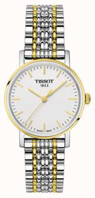 Tissot Womens everytime two tone armband verguld T1092102203100