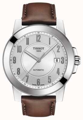 Tissot Heren gentleman swissmatic bruin lederen band T0984071603200
