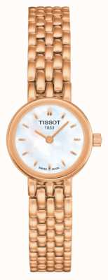 Tissot Mooie rose rose pvd plated mop wijzerplaat T0580093311100