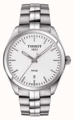 Tissot Pr100 roestvrijstalen zilveren wijzerplaat heren T1014101103100