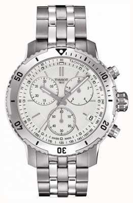 Tissot Mens prs 200 zilver wijzerplaat chronograaf roestvrij staal T0674171103101