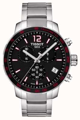 Tissot Heren quickster chronograaf zwart wijzerplaat roestvrij staal T0954171105700
