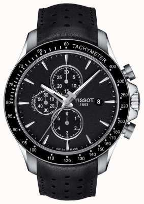 Tissot Heren v8 swissmatic chronograaf zwart wijzerplaat zwart leer T1064271605100
