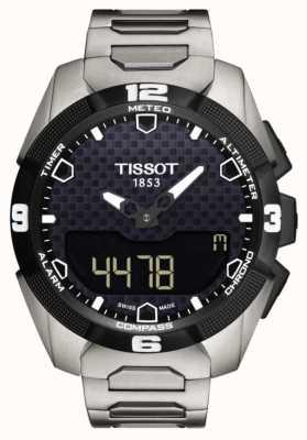 Tissot Mens t-touch expert solar titanium armband dubbele sensor T0914204405100