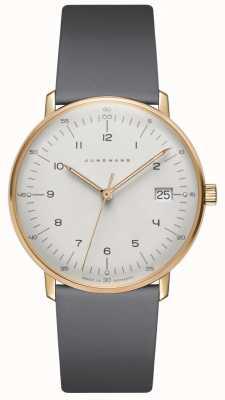 Junghans Max. Bill damen quartz grijs lederen horloge 047/7854.00