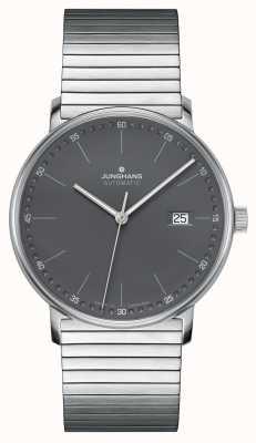 Junghans Vorm een automatisch roestvrijstalen armbandhorloge 027/4833.44