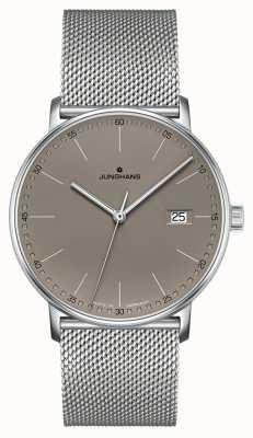 Junghans Vorm quartz horloge met grijze wijzerplaat 041/4886.44