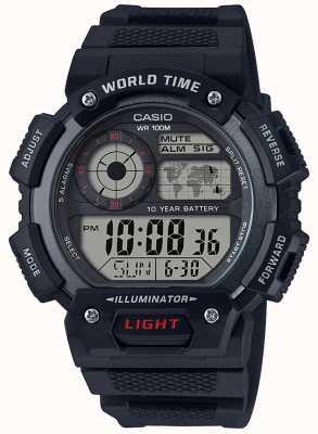 Casio Wereldtijdalarm chronograaf AE-1400WH-1AVEF