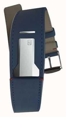 Klokers Klink 01 indigo blauwe riem slechts 22 mm breed 230 mm lang KLINK-01-MC3