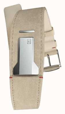 Klokers Klink 01 grijze alcantara riem slechts 22 mm breed 230 mm lang KLINK-01-MC6