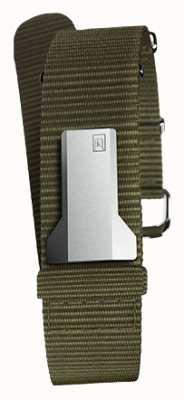 Klokers Klink 03 lichen single-strap textiel slechts 20 mm breed 230 mm KLINK-03-MC2