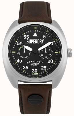 Superdry Scout vlieger datum & dag geeft zwarte band weer SYG229BR