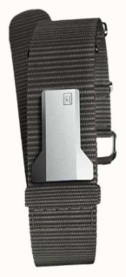Klokers Klink 03 zwarte textiel enkele riem slechts 20 mm breed 230 mm KLINK-03-MC3