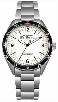Ben Sherman Crèmekleurige wijzerplaat en armband in zilver BS007WSM