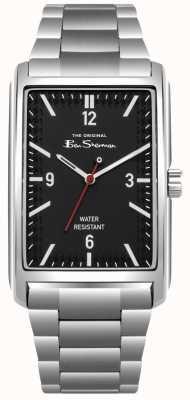 Ben Sherman Zwarte wijzerplaat, roestvrijstalen kast en armband BS013BSM