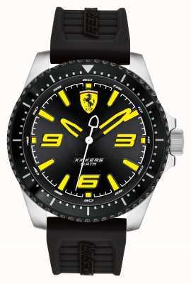 Scuderia Ferrari Xx kers zwarte wijzerplaat zwarte ip coated zwarte rubberen band 0830487