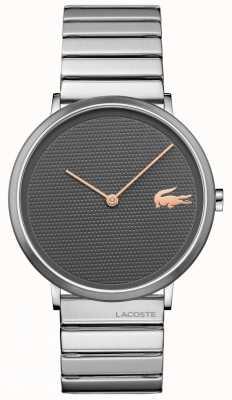 Lacoste Wijzerplaat en armband in maangrijs wijzers 2010954