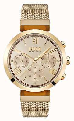 Hugo Boss Dames multifunctionele klassieke sport gouden dag en datum display 1502425