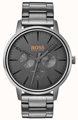 Hugo Boss Orange Dag en dag van heren Kopenhagen, grijs gekleurd wijzerplaat ip gecoat 1550068