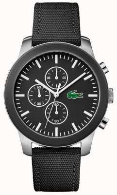 Lacoste Heren 12.12 chronograaf zwarte wijzerplaat zwarte nylon riem 2010950