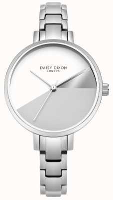Daisy Dixon Dames ava zilveren drie kleuren wijzerplaat zilveren stalen armband DD065SM