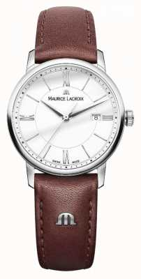 Maurice Lacroix Dames eliros bruin lederen band zilveren dialdels EL1094-SS001-110-1