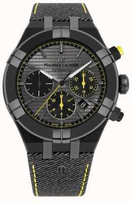 Maurice Lacroix Gelimiteerde editie aikon 'achtervolg de zwarte band van je horloge' AI6018-PVB01-331-1