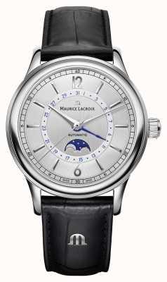 Maurice Lacroix Les classiques heren moonphase zwart lederen band LC6168-SS001-120-1