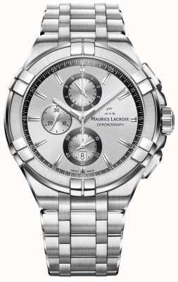 Maurice Lacroix Heren aikon roestvrij stalen armband zilveren wijzerplaat AI1018-SS002-130-1