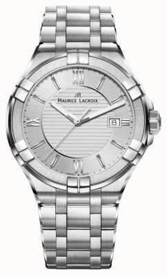 Maurice Lacroix Dames aikon roestvrij stalen armband zilveren wijzerplaat AI1004-SS002-130-1