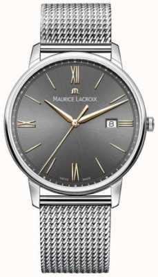 Maurice Lacroix Heren eliros mesh armband zwarte wijzerplaat gouden accenten EL1118-SS002-311-1