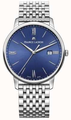 Maurice Lacroix Eliros heren blauwe wijzerplaat roestvrij stalen armband EL1118-SS002-410-2
