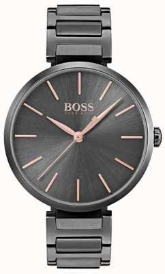 Boss Womens allusion horloge zwart ijzer verguld staal 1502416