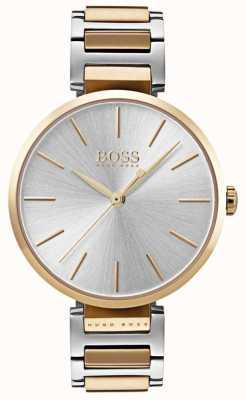 Boss Womens toespeling horloge two tone staal 1502417