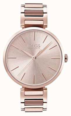 Boss Womens allusion horloge rose gouden kleur 1502418
