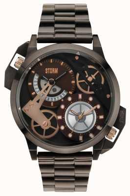 STORM Dualon bruine dual time ip-armband 47135/BR